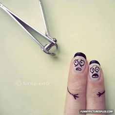 looool I would never cut my nails if they were that long . . . I wouldn't be able to grow them back !