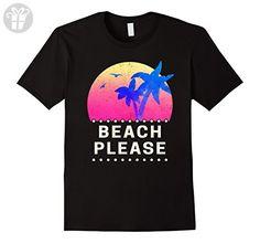 Mens BEACH PLEASE T-SHIRT funny beach saying tshirt tee 3XL Black - Funny shirts (*Amazon Partner-Link)