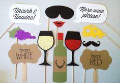 12 vino cata brillo foto Booth Props - grupo de cata de vinos - bodega cabina apoyos de la foto