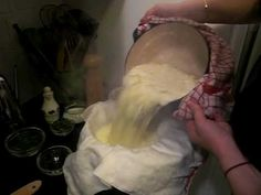 How to make Cheese at Home in Under 5 Minutes τυρί χωρις πυτιά fugazi. Making Cheese At Home, How To Make Cheese, Cheese Recipes, Real Food Recipes, Cooking Recipes, Fromage Cheese, Butter Cheese, Homemade Cheese, Fermented Foods