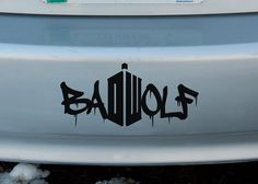 Hey, I found this really awesome Etsy listing at https://www.etsy.com/listing/186415977/bad-wolf-doctor-who-vinyl-sticker-car