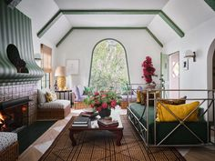 Step Inside Jessica Hart's Vibrant Los Angeles Abode   Architectural Digest Wicker Armchair, Wicker Chairs, Cabana Magazine, Moving Cross Country, Jessica Hart, Vintage Dining Chairs, Clarence House, Australian Models, Visual Comfort