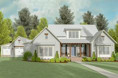House plan number 130014LLS - a beautiful 3 bedroom, 2 bathroom home.