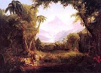Thomas Cole - Garden of Eden, 1828. Professional Artist is the foremost business magazine for visual artists. Visit ProfessionalArtistMag.com.