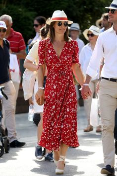abca30168be Pregnant Pippa Middleton Just Wore a Flawless Ralph Lauren Wrap Dress to  the French Open This is the perfect summer look.