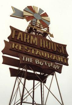 Arnold's Farm House Restaurant ~ Vintage Neon Sign. Buena Park