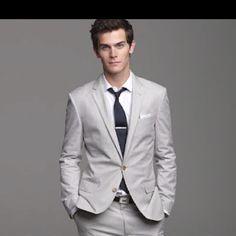Love light grey suits!!