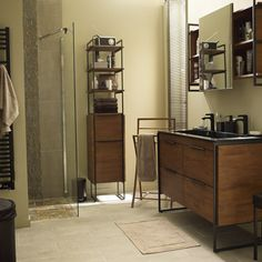 1000 images about meuble on pinterest dressers mid - Meuble salle de bain 2 vasques leroy merlin ...