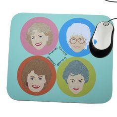 A mouse pad featuring the best quartet in television history.