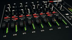 Mixing Console 3d visualisation