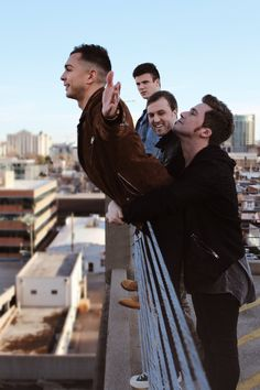 Anthem Lights // Aww, Joey & Caleb☺️ Chad just looking on with a smile, knowing they're both such goofballs. And then there's Spencer looking slightly confused.