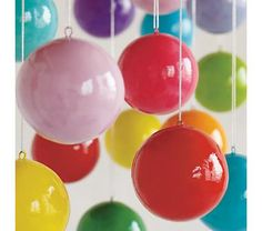 Kids Ornaments: Multicolored Christmas Ornaments, $35 set of 12