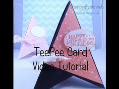 Fancy Fold Friday – TeePee Card | StampinbyHannah - Stampin Up! UK Demonstrator, Teesside - SHOP ONLINE 24/7