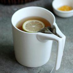 Creative Ceramic Mug with Tea Bag Holder
