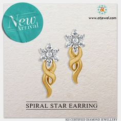 Design Of The Day...... Beauty Is Confidence,Applied Directly To Your Face.a #Atjewel #Beauty Only For You. #Atjewel #Diamond #Earrings #Gold #Beauty http://bit.ly/28QsgUd