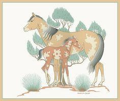 Harrison Begay Navajo Ponies Giclee Limited Edition H x W Native American Horses, Native American Artists, Navajo Art, Indian Artist, Native Art, Horse Art, Online Art, Folk Art, Pony