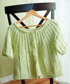 heartALT Knitty Free pattern Cardigan Top-down Summer Knitting, Knitting For Kids, Baby Knitting, Knit Cardigan Pattern, Sweater Knitting Patterns, Knit Sweaters, Knitting Stitches, Knit Patterns, Piercings