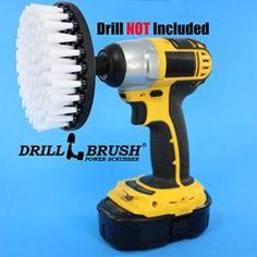 Softer Bristle Scrub Brush 5″ Round with Power Drill Attachment