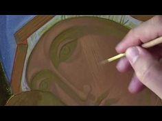 10.2 Dipingere l'icona della Madonna di Vladimir Fase 2: schiarimento - YouTube