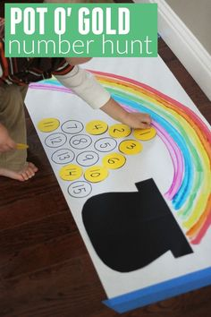 St. Patrick's Day Math Activities:  Pot O' Gold Number Hunt