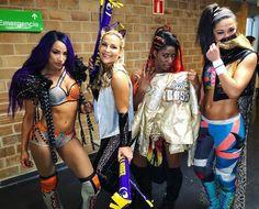 Sasha Banks, Natalya, Ember Moon, and Bayley Wrestling Divas, Women's Wrestling, Wwe Pop, Wwe Sasha Banks, Wwe Women's Division, Wwe Female Wrestlers, Wwe Girls, Wwe Champions, Raw Women's Champion