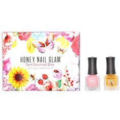 Honey Nail Glam Luscious Lillies Box Set ** Want to know more, click on the image. (This is an affiliate link) #FootHandNailCare