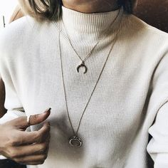 A chunky sweater and dainty jewelry goes great with a simple silhouette, the Wooster