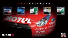 NISMO 2013 desktop calendar R35 GT-R NISSAN