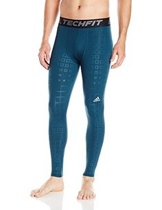 Adidas Mens Training Techfit Baselayer Long Tight Utility Green Medium ** Check this awesome product by going to the link at the image.
