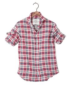 Mens Paul Linen Multi Plaid Shirt