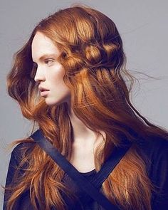 Wave Hair Style #look #makeup #lifestyle #portrait #fashion #style #face #lips #hairstyle #глаза #губы #макияж #ginger #redhead #рыжие #рыжая