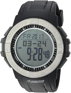 Armitron Adventure Mens AD1011BLK Digital MultiFunction Black Resin Strap Sport Watch -- You can get more details by clicking on the image. (This is an affiliate link) #FitnessAccessories