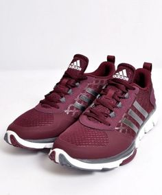 Maroon Adidas Shoes.