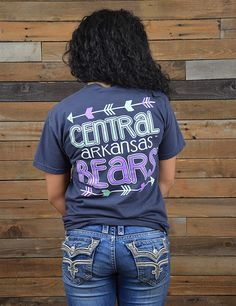 Follow your arrows right to the University of Central Arkansas! Rep your school while still looking super cute in this new UCA Comfort Color t-shirt. GO BEARS