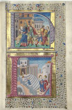 Évangéliaire Publication date : 1501-1600 Contributor : Nesle (Famille de). Ancien possesseur Type : manuscript Language : latin Language : french
