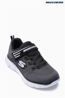 Black Skechers® Black Flex Advantage Strap Sneaker