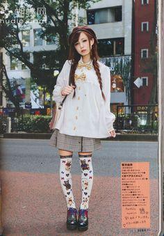 jfashion japanese street fashion Innocent World street snaps kera kera magazine