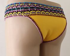 Fabric Crochet Bottom, Crochet Bikini Bottom, Full Coverage Bottom, Women bikini bottom, swimwear bottom, swim suit bottom /// FORMALHOUSE