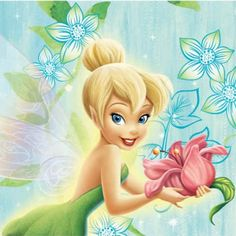tinkerbell pictures | Tinkerbell Flower Party Napkins - Pack of 16 | Party Wizard