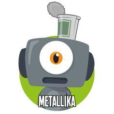 Bild på Metallika i en rund cirkel