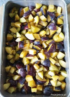 Ciasto ze śliwkami | AniaGotuje.pl Polish Recipes, Plum, Cake Recipes, Food And Drink, Sweets, Fruit, Vegetables, Cook, Diy