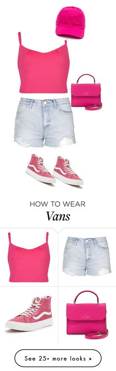 """Untitled #1170"" by sylviabunny on Polyvore featuring Topshop, Ted Baker, Vans, Kate Spade, women's clothing, women, female, woman, misses and juniors"