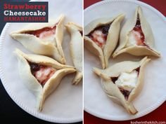 Strawberry Cheesecake Hamantashen!