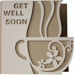 Silhouette Design Store - View Design #76218: 5x5 get well soon card