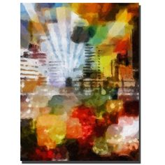 "Trademark Fine Art Adam Kadmos 'City Paint' 18"" x 24"" Canvas Art"