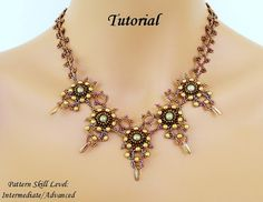 Beading tutorial instructions - beadweaving pattern beaded seed bead jewelry - DRAGON's TALONS beaded necklace beading pattern