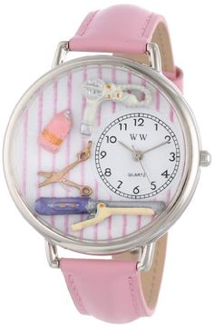 Whimsical Watches Unisex U0630001 Beautician Female Pink Leather Watch - http://www.artistic-watches.com/2015/03/07/whimsical-watches-unisex-u0630001-beautician-female-pink-leather-watch/