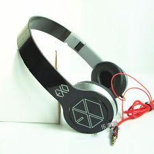 New in Box EXO-K EXO-M FROM EXO PLANET KPOP EARPHONES HEADPHONES White Black