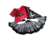 Pirate Pettiskirt Set - Halo Heaven   The Better Baby Boutique