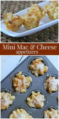 Mini Macaroni and Cheese Appetizers Mini Macaroni and Cheese Appetizers Stef koh s Essen und trinken Mini Macaroni and Cheese Appetizers recipe from RecipeGirl nbsp hellip Appetizers for party Cheese Appetizers, Easy Appetizer Recipes, Appetizers For Party, Simple Appetizers, Make Ahead Appetizers, Cheese Recipes, Cooking Recipes, Oven Recipes, Vegetarian Cooking